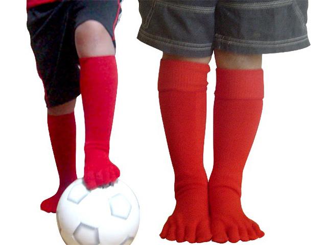 高品質スポーツ向けロングソックス 在庫処分 HP303 五本指スポーツロングソックス17-21cm 限定特価 店 五本指靴下 キッズ 子供 日本製