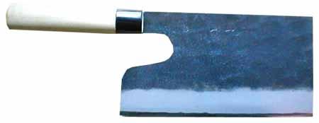 ZAKURI★土佐打刃物◆麺切り包丁(蕎麦包丁)125mm×230mm・青1号鋼★そば包丁