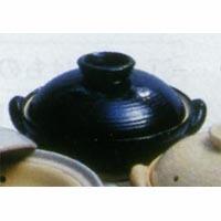 ★長谷製陶 ヘルシー蒸し鍋(黒) 大 3~5人用★(a39-05-zw-18)