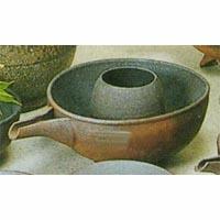(雑貨)長谷製陶 片口冷酒器 炭焼大(氷入れ付)◎送料無料