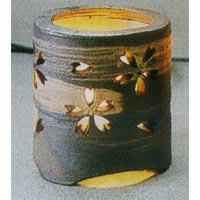 (雑貨)長谷製陶 陶灯り「桜」(小)◎送料無料