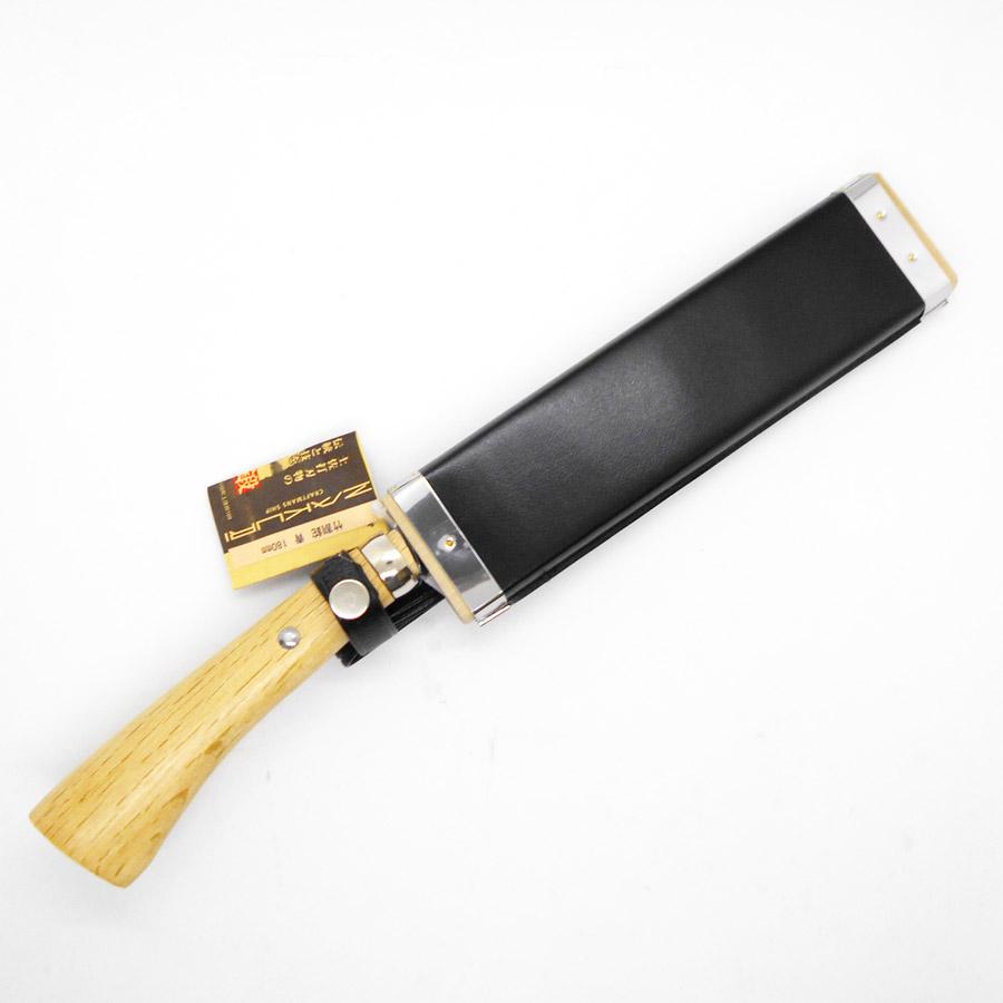 竹割鉈 たけわりなた 刃渡り180mm 青紙2号 木製さや付き 土佐打刃物 ZAKURI(577-002)「本物」「一生もの」をお届けします