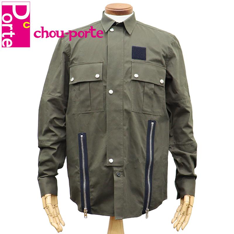 【中古美品】 ジバンシィ (GIVENCHY) ボタンダウンシャツ コットン カーキ ミリタリー 37サイズ メンズ