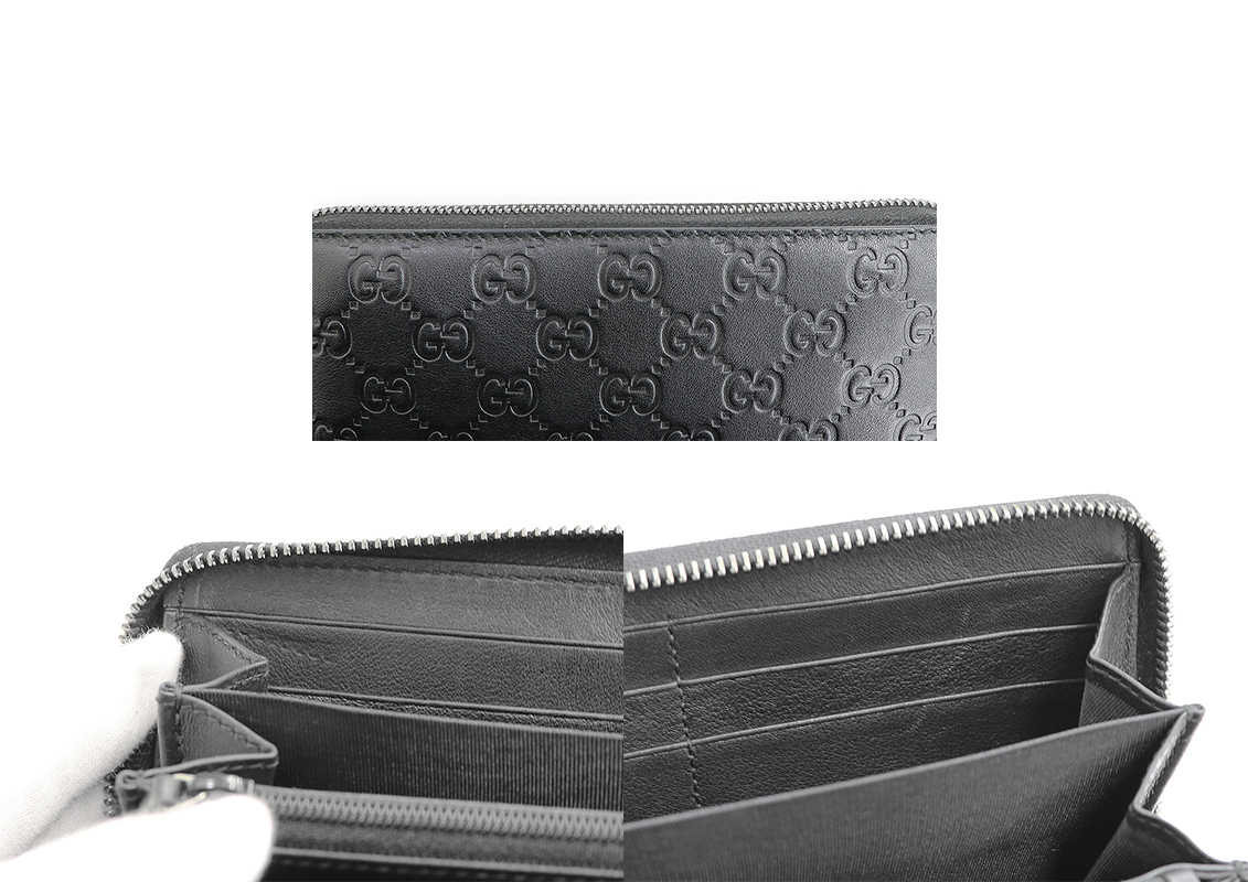 f6d965f5ebc3ce ... GUCCI (Gucci) zip around wallet black black Gucci sima leather 307,987  rounds fastener long ...