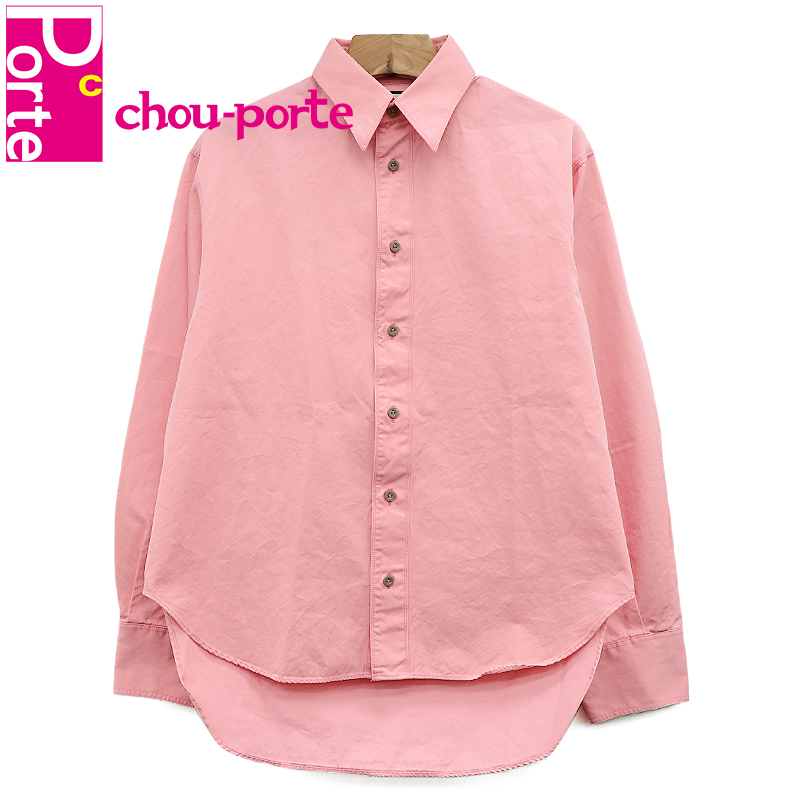 【中古美品】 グッチ (GUCCI) 長袖シャツ レギュラーカラー コットン ピンク 44サイズ S メンズ