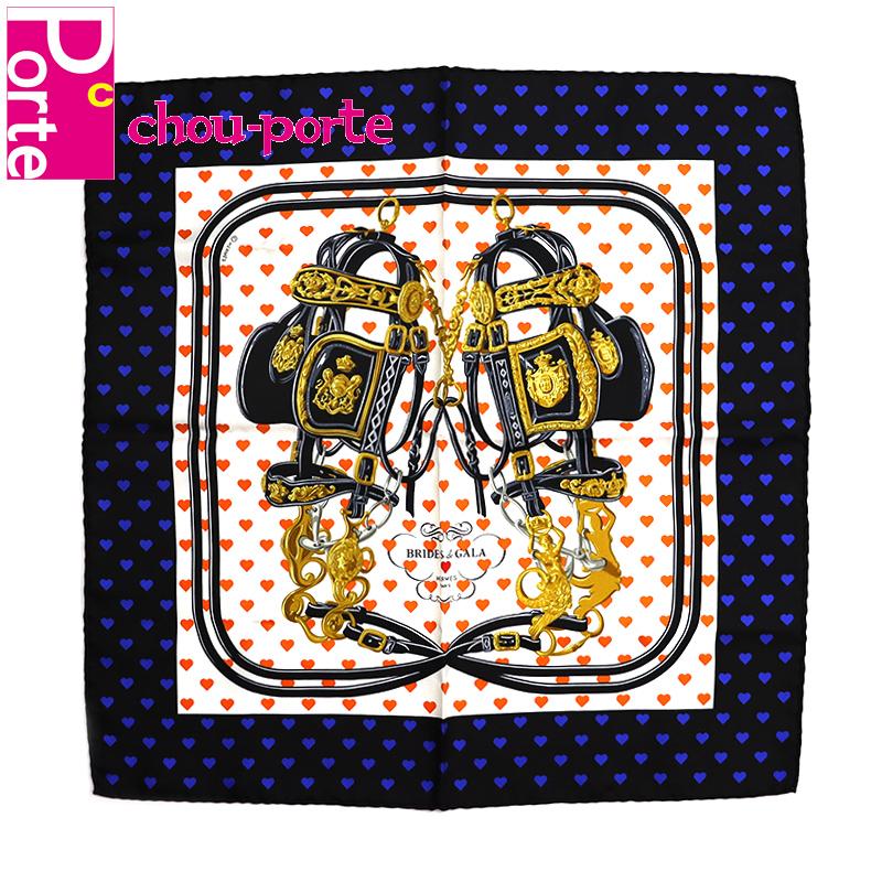 【未使用同等品】 エルメス (HERMES) プチカレ カレ45 シルクスカーフ ポケットチーフ Brides de Gala LOVE ブリッド ドゥ ガラ ラヴ レディース