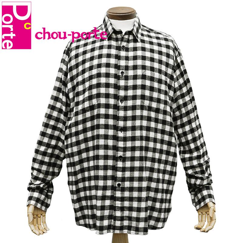 【中古】 サンローラン パリ (Saint Laurent) ブロックチェック シャツ 40サイズ ブラック ホワイト コットン メンズ 黒 白 長袖 ロングスリーブ 2017SS