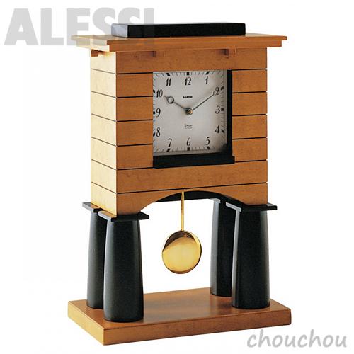 AlESSI Mantel Clock 置き時計 マントルクロック 【アレッシィ デザイン雑貨 イタリア デスククロック オフィス リビング 店舗 振り子時計 振子時計】