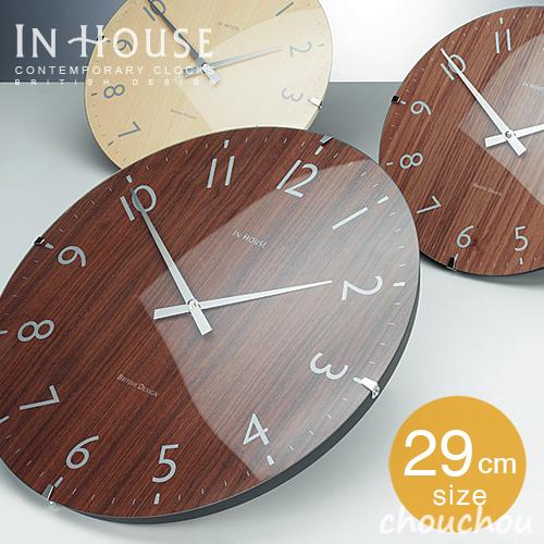 《全3色》INHOUSE Dome Clock 29cm ドームクロック NW31 【インハウス 壁掛け時計 ウォールクロック 英国 イングランドデザイン デザイン雑貨 インテリア】