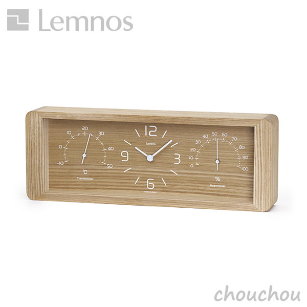 《全2色》lemnos YOKAN 温湿度計付き置き時計 ヨウカン 【タカタレムノス デザイン雑貨 置時計 玄関 熱中症対策 乾燥 クロック シンプル インテリア 温度計 湿度計 リビング 北欧】