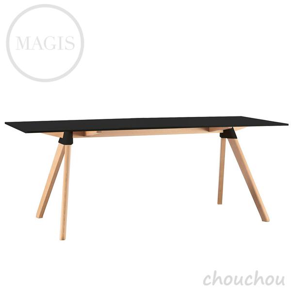 MAGIS BUTCH バッチ(黒×ナチュラル)1800×900 テーブル 【マジス デザイン雑貨 店舗 ギフト お祝い 贈り物 デザイン雑貨 モダン インテアリア】※ 受注後に納期をご連絡いたします。