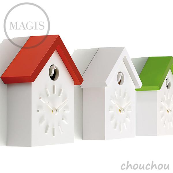 《全3色》MAGIS Cu-Clock クークロック 深澤直人 カッコー時計 【マジス デザイン雑貨 店舗 ギフト お祝い 贈り物 ウォールクロック 鳩時計 掛け時計 掛時計 インテリア ハト時計】※ 受注後に納期をご連絡いたします。