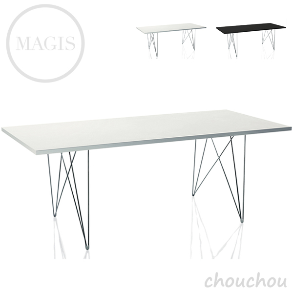 《全2色》MAGIS Tavolo XZ3(長方形天板) タヴォロXZ3 テーブル 【マジス デザイン雑貨 店舗 ギフト お祝い 贈り物 デザイン雑貨 モダン インテアリア】※ 受注後に納期をご連絡いたします。