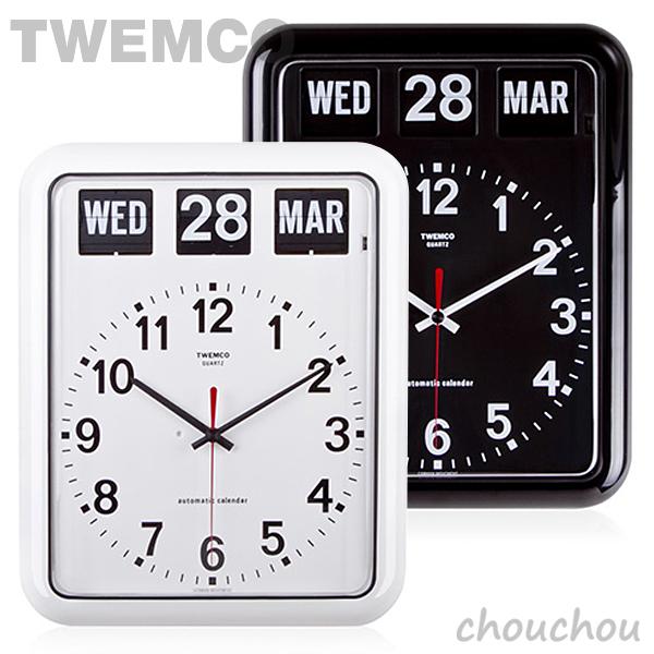 《全2色》TWEMCO BQ-12A Desk&Wall パタパタ時計 【トゥエムコ トゥエンコ デザイン雑貨 デスク&ウォール クロック 置き掛け兼用 置き時計 掛け時計 置時計 掛時計 インテリア】