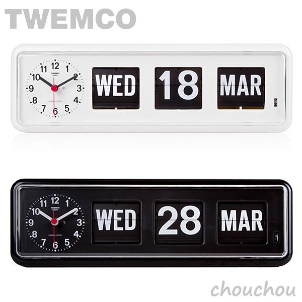 《全2色》TWEMCO BQ-38 Desk&Wall パタパタ時計 【トゥエムコ トゥエンコ デザイン雑貨 デスク&ウォール クロック 置き掛け兼用 置き時計 掛け時計 置時計 掛時計 インテリア】