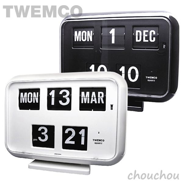《全2色》TWEMCO QD-35 Desk&Wall パタパタ時計 【トゥエムコ トゥエンコ デザイン雑貨 デスク&ウォール クロック 置き掛け兼用 置き時計 掛け時計 置時計 掛時計 インテリア】