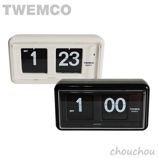 《全2色》TWEMCO QT-30 Desk&Wall パタパタ時計 【トゥエムコ トゥエンコ デザイン雑貨 デスク&ウォール アラームクロック アラーム時計 置き時計 目覚まし時計 置時計 掛時計 インテリア 置き掛け兼用】