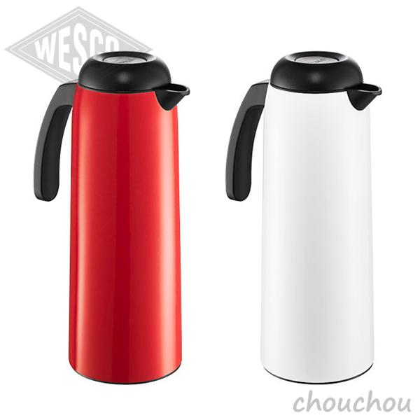 《全2色》Wesco バキュームジャグ 1L 魔法瓶 VACUUM JUG 【ウェスコ デザイン雑貨 ドイツ 保温ポット 耐熱ガラス キッチン雑貨 真空ジャグ】