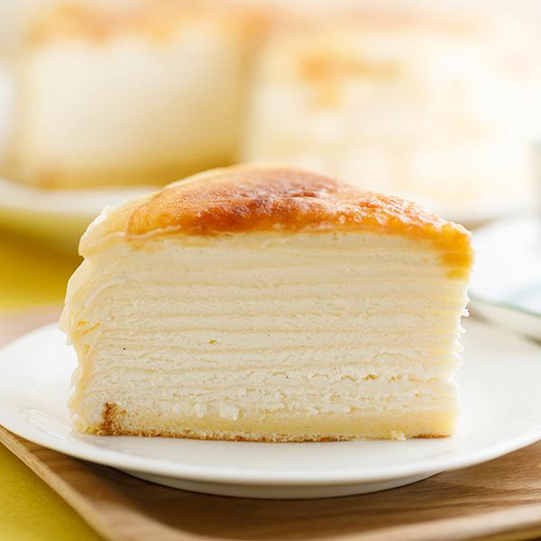 ホワイトデー ミルクレープ スイーツ バースデーケーキ 誕生日ケーキ 内祝い ギフト カットケーキ パーティー スイーツ 出産内祝い 結婚内祝い 結婚祝い 出産祝い 手作り もっちり食感の手作りミルクレーププレーン6個入り 送料無料