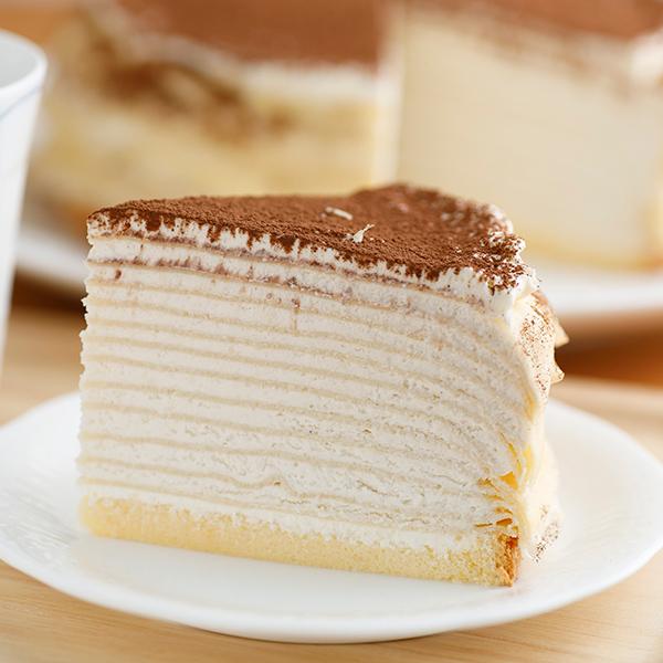 ホワイトデー ミルクレープ スイーツ バースデーケーキミルクレープ 誕生日ケーキ カットケーキ 内祝い ギフト カフェモカ 出産内祝い 手作り もっちり食感の手作りミルクレープカフェモカミルクレープ6個入り 送料無料