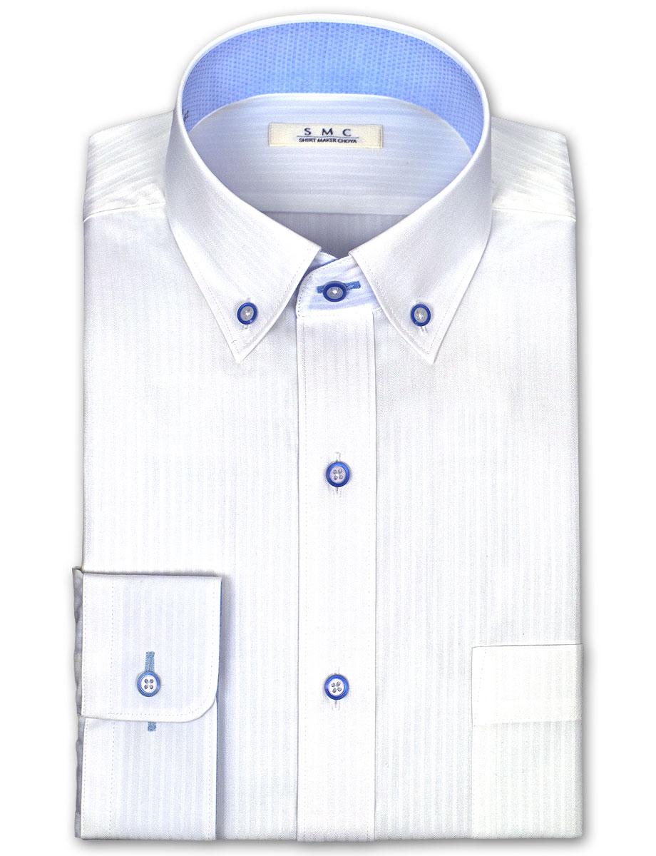 SMC 일본제 천・형태 안정 가공・흡미하야건백드비・쇼트 칼라・보턴다운・드레스 셔츠 SHIRT MAKER CHOYA (비즈니스 셔츠/와이셔츠/백화점)(cmd310-200)