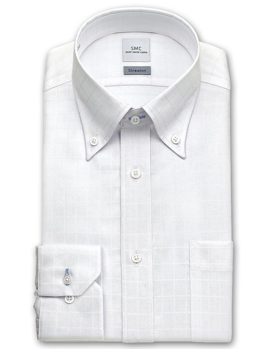 239f9c90a ... Processing white dobby check button-down shirt | stable SHIRT MAKER  Choya Shiwanon long sleeves ...
