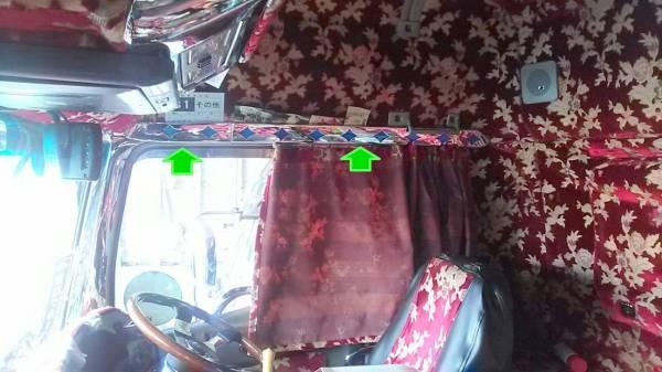 FUSO スーパーグレート 内装窓上モール 左右4点セット★高級クロームメッキ仕様★