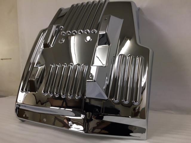 HINO レンジャープロ 増トン車 左右セット 購入 マッドガード 高級クロームメッキ仕様 35%OFF