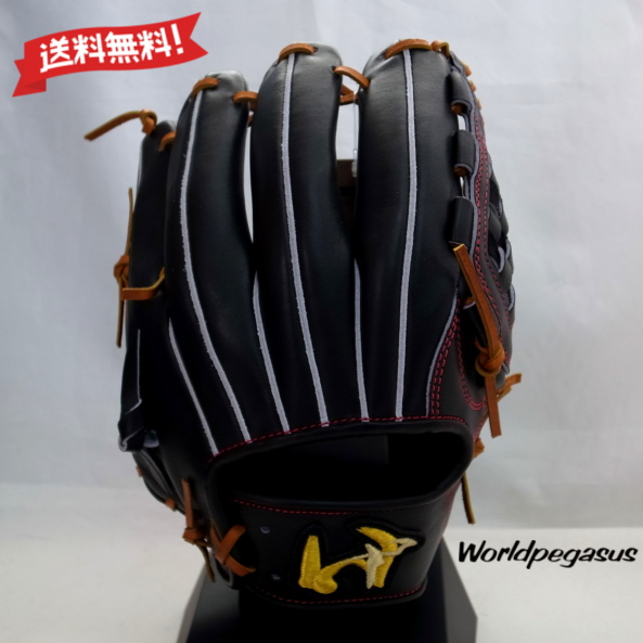 【送料無料】 ワールドペガサス 硬式用 内野手用 グランドペガサス WGKGP42-90-0665 ブラック 右投げ WORLD PEGASUS