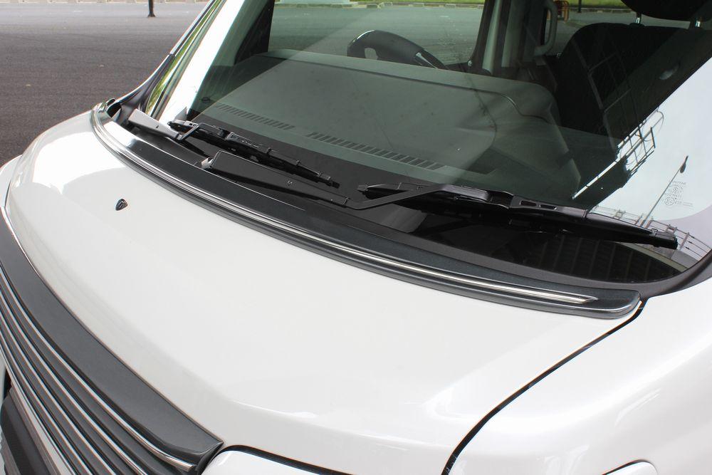 アトレーワゴン/ハイゼットカーゴ S321G/S321V 後期 ボンネットスポイラー(メッキモール付属) 塗装済 アリュール/ALLURE