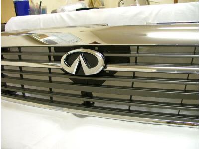 E50 エルグランド MC後 エンブレムマウントキットセット 塗装済 AMS