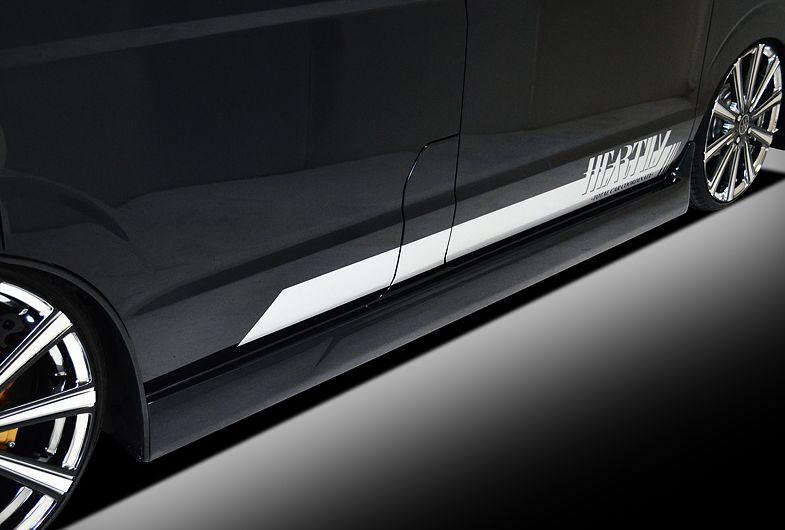 エブリィワゴン DA17W サイドスカート 塗装済 LS-LINE ハーテリー