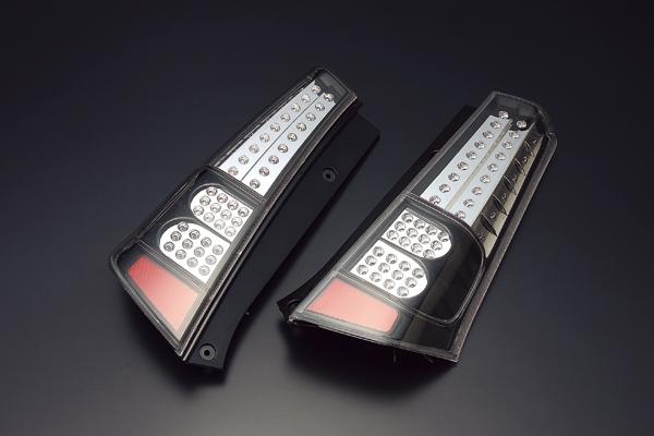 【送料無料】ワゴンR MH23S LEDテールランプ ブラックハウジング ブラッセン