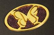 オーバルエンブレム GOLD(L)クリスタルSET Butterfly System/バタフライシステム