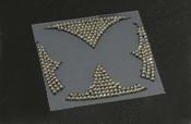 スクエアエンブレム(L)クリスタル Butterfly System/バタフライシステム