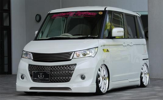 パレットSW MK21S フロントグリル 塗装済 Butterfly System/バタフライシステム グランツ