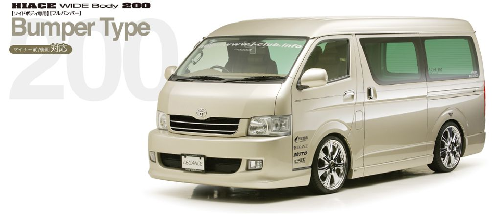 ハイエース 200系 ワイド【フルバンパー】 サイドカバー 塗装済 4ドアスーパーロング レガンス