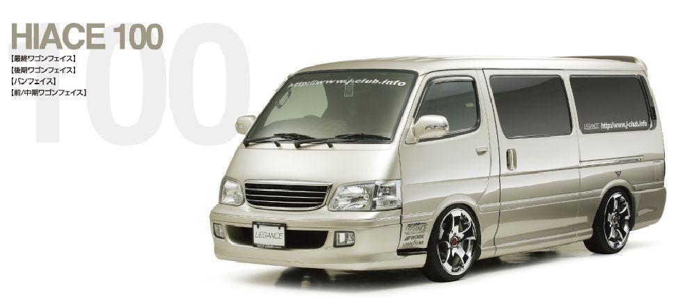 ハイエース 100系 サイドカバー 塗装済 Sロング レガンス