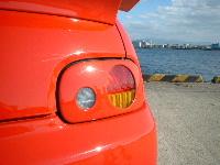 オプティー L300系 テールレンズカバー 塗装済 スパンキー タイプ1 ESB