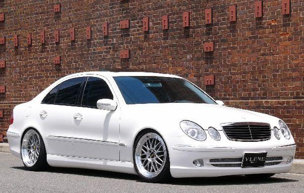 メルセデスベンツ W211 Eクラス フロントバンパースポイラー 塗装済 GEELE ブレーン