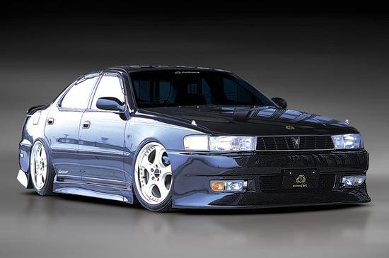 クレスタ 90系 フロントバンパースポイラー 塗装済 FINAL KONEXION(ファイナルコネクション)