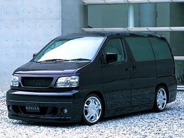 エルグランド E50 フロントバンパースポイラー 塗装済 PLATINUM ジアラ