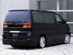 エルグランド E50 リアハーフスポイラー 塗装済 PLATINUM ジアラ
