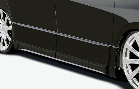 アルファード ANH2W/GGH2W/ 前期 2008/5~ Sグレード サイドステップモール 塗装済  ロジャム