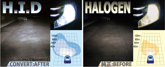 HID ライティングユニット 12V-35W H4 HI/LOW 【Fine Blue Spark 15000K/品番:D-1270】 DELTA/デルタ