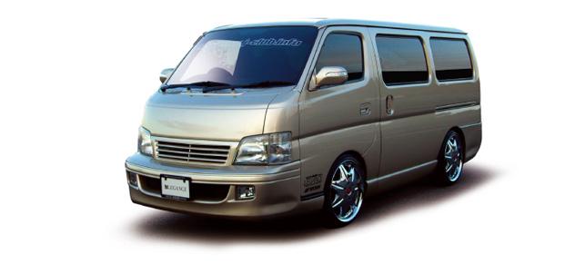 キャラバン E25系 前期 フロントバンパー(グリル一体式) 塗装済 レガンス