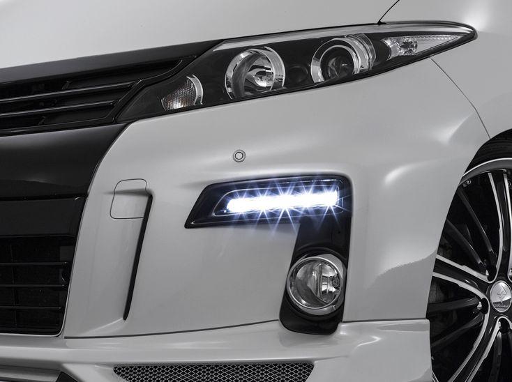 エスティマ GSR/ACR50・55/AHR20W 後期 クリスタルハイパー2WAY LEDデイライトキット 塗装済 デポルテ アドミレイション
