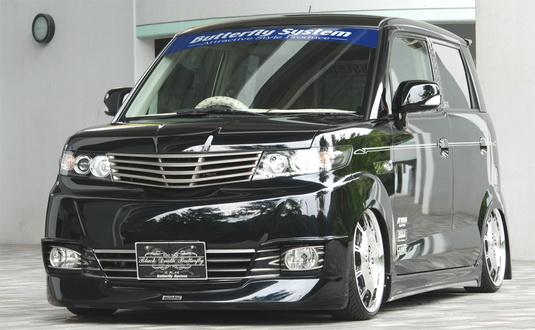 ゼストスパーク JE1,2 フロントグリル 塗装済 黒死蝶 バタフライシステム