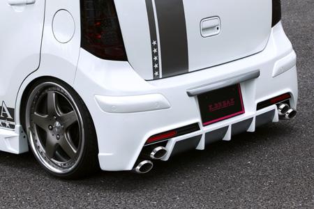 ワゴンRスティングレーMH23リアバンパー(LEDリアマーカー付)塗装済クワンタK-BREAK(ケイブレイク)