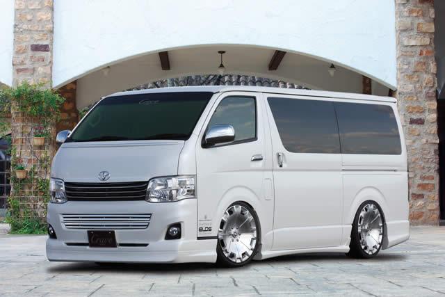 ハイエース 標準 S-GL KDH200V 3型 フロントグリル(トップモール・メッキモール付属) クレイブ